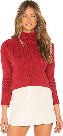 Velvet Sandie Turtleneck Sweater in Red