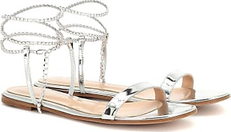 Gianvito Rossi Serena metallic leather sandals