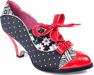 Irregular Choice Force of Beauty Black Red Womens Heels Shoes (Numeric_8_Point_5)