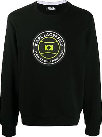 Karl Lagerfeld logo print sweatshirt - Preto