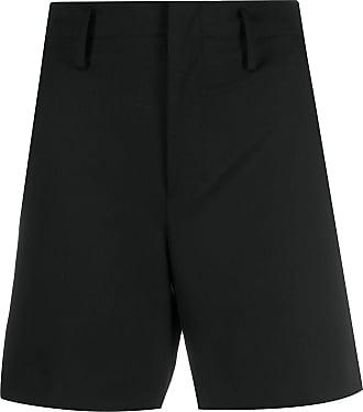 Yohji Yamamoto Bermuda de alfaiataria cintura média - Preto