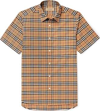 3a0dacc503ba Burberry Checked Stretch-cotton Poplin Shirt - Tan