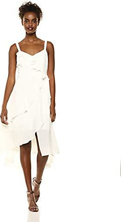 Parker Womens Santana Sleeveless V-Neck Midi Dress, Pearl, 0