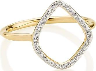 Monica Vinader Riva Diamond Hoop ring - GOLD