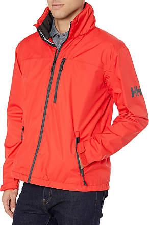 Helly Hansen Mens Crew Hooded Jacke Jacket, Red, L