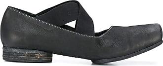 Uma Wang crossover-strap loafers - Black