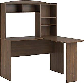 Dorel Home Products Ameriwood Home Dakota Space Saving L Desk with Hutch, Saint Walnut