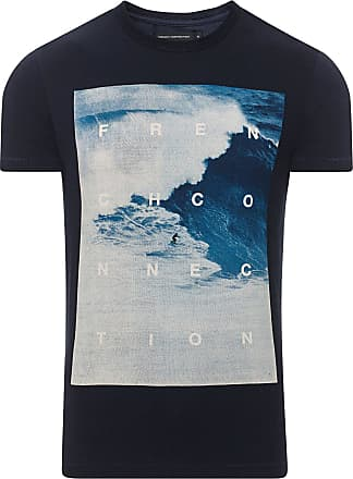 French Connection Beach Surf T-Shirt Marine Blue