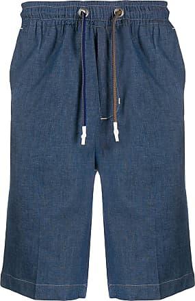 Entre Amis Bermuda jeans com cordão de ajuste - Azul
