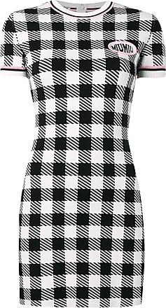 35763cd326 Miu Miu check jersey dress - Black. In high demand