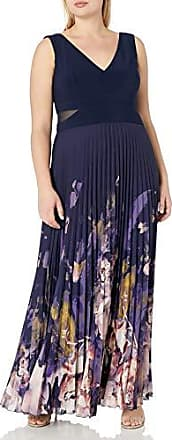 Xscape Womens Long Ity Capsleeve Embroidred//Beads with Shawl
