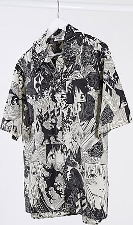 Weekday Lesley manga print shirt in multi