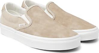 Vans Og Classic Lx Brushed-nubuck Slip-on Sneakers - Beige