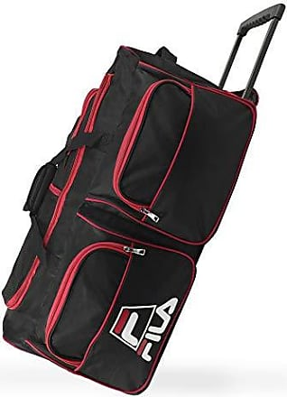 6fad7f741 Fila 30 8-Pocket Rolling Duffel, Black/Red One Size