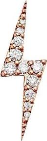 Zoe & Morgan Rotgold-Zap-Blitz-Diamant-Einzelstecker - Rose Gold/White