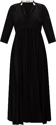 Jil Sander Dress With Deep Neckline Womens Black