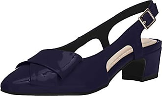 Easy Street Womens Breanna Slingback Dress Pump Shoe, Navy Patent, 9.5 N US