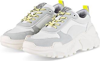 Mrs & Hugs Plateau-Sneaker - WEISS/ GELB/ GRAU