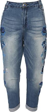 Desigual Calça Jeans Desigual Boyfriend Bordada Azul
