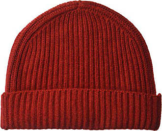 c0883f4f3ad815 Williams Cashmere 100% Cashmere Mens Chunky Full Cardigan Rib Hat, New red  One Size