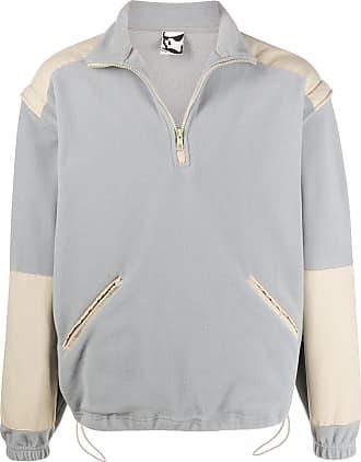 GR10K Suéter com recortes contrastantes - Azul
