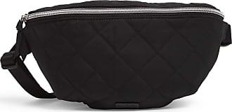 Vera Bradley Womens Performance Twill RFID Belt Bag Crossbody Purse, Black, One size