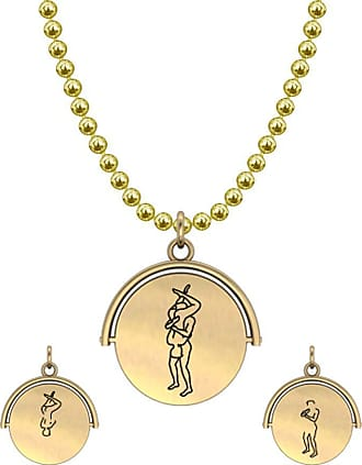 Allumer sutra 13MM Gold Pendant Necklace - Boy And Boy - The 69 - Brown