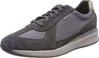 Geox Herren U Xunday 2FIT B Sneakers, Grau (AnthraciteLT