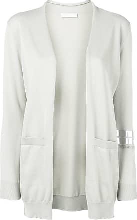 Fabiana Filippi longline fine knit cardigan - Grey