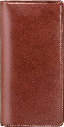Visconti Italian Dark Brown Slim Leather Long Wallet Boxed, MZ-6 New