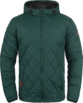 Blend Blend Divior Mens Quilted Jacket Puffer Jacket Padded Jacket Hood, Size:M, Colour:Pine Green (77023)