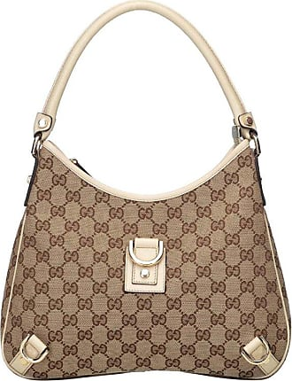 676cfd6e29f Gucci Brown Beige Jacquard Fabric Gg Abbey Hobo Bag Italy W  Dust Bag