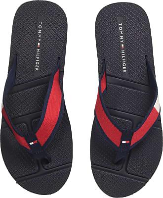 8fa765d0c Tommy Hilfiger Mens Technical Flag Beach Sandal Flip Flops