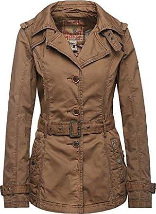 60/%! khujo Damen Jacke TAMPA BIKER braun Sommerjacke Trenchcoat Baumwolle SALE