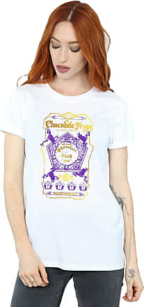 Harry Potter Womens Chocolate Frogs Coloured Label Boyfriend Fit T-Shirt Medium White