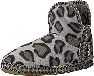 a5742690988d Muk Luks Womens Bootie WRAP Gift Set-Grey LEOP Slipper Small (5-