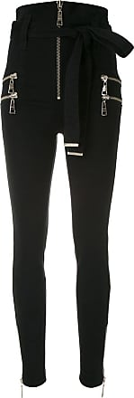 BO.BÔ Calça skinny com amarração - Preto