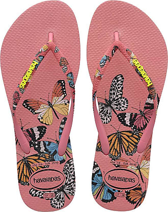 Havaianas Womens HAV Slim Sensation Crystal Rose Flip-Flop, Multicolor (Navy Blue), 5 UK