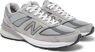 New Balance 990 V5 Suede And Mesh Sneakers - Gray