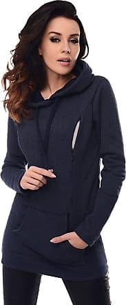 Purpless Maternity 2in1 Pregnancy Nursing Hoodie Sweatshirt Woman Kangaroo B9050 (16, Navy Melange)