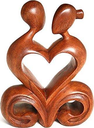 Novica 158995 One Heart Wood Sculpture