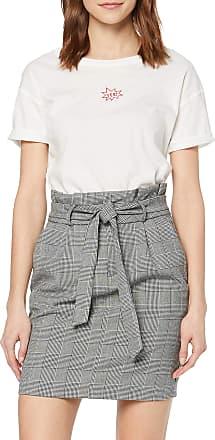 Vero Moda Womens Vmeva Hr Paperbag Short Skrt Noos Skirt, Grey (Grey Checks: White), X-Large