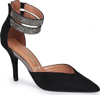 Vizzano Sapato Scarpin Feminino Vizzano Tornozeleira Strass