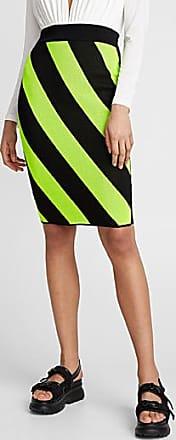 Icone Neon stripe pencil skirt