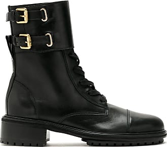 Sarah Chofakian Sarah leather combat boots - Black