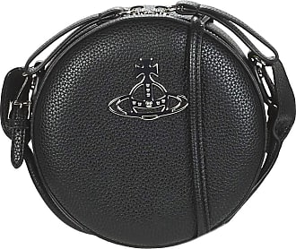 Vivienne Westwood Johanna Black Vegan Round Cross-Body Bag Bke One-Size