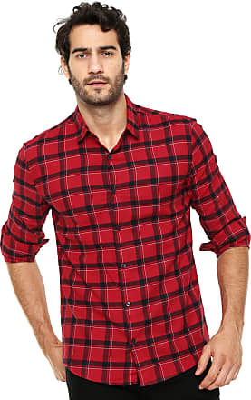 Calvin Klein Jeans Camisa Calvin Klein Jeans Xadrez Vermelho 4c0830a926