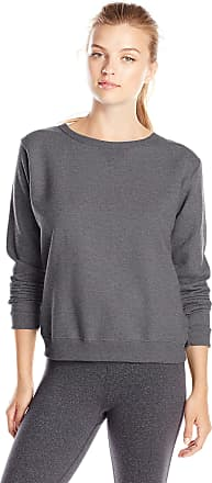 Hanes womensO4633Hanes Womens Long Sleeve Bound Neck Rib Vnotch Crew Long Sleeve Sweatshirt - multi - Medium