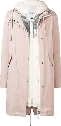 Yves Salomon - Army layered hooded coat - PINK