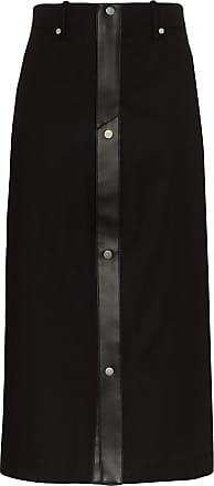 Zilver fitted trim skirt - Black